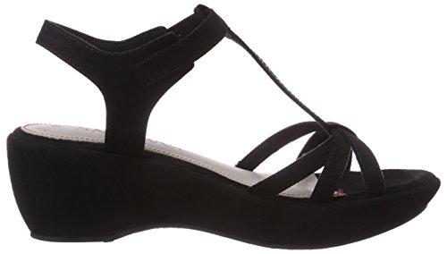 Senhoras T 001 S slides Cunhas 28314 black oliver Preto 7Sz7q