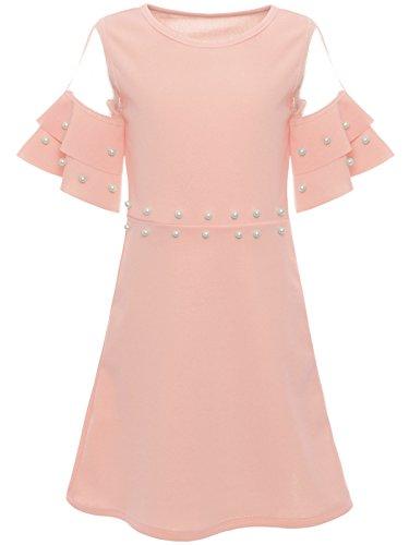 BEZLIT Mädchen Sommer Kleid Kunst-Perlen Prinzessin Fest Spitze Outfit 22602, Farbe:Rosa, Größe:152