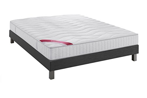 Relaxima Ensemble Equateur Matelas 100% Latex Dunlopillo, Anthracite, 160x200