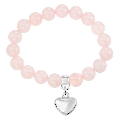 Ornami Bijoux pour tous E72REF3RQ - Pulsera de metal con cuarzo rosa