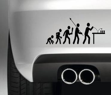 EVOLUTION BEER PONG FUNNY BUMPER STICKER CAR VAN JDM DECAL DRIFT DUB JAP VW GRAPHIC
