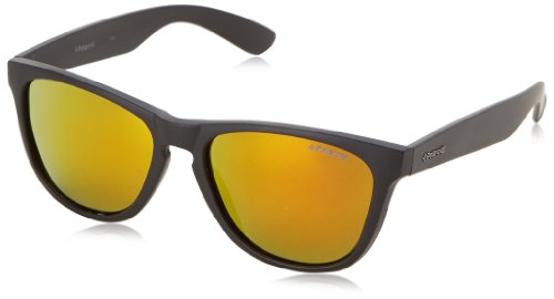 Polaroid Hombre P8443 L6 9CA Gafas de sol, Negro (Black/Grey Red Mirror Polarized), 55