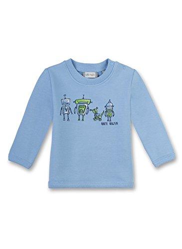 Sanetta Baby-Jungen Sweatshirt 114067, Blau (Fresh Cloud 50247), 86