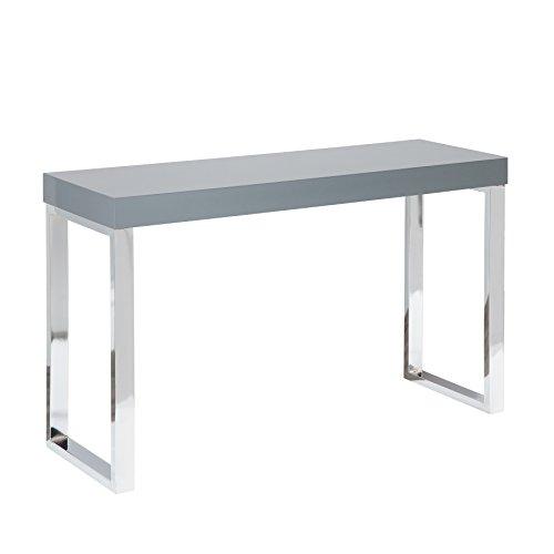 Riess Ambiente Design Laptoptisch Grey Desk 120cm Hochglanz dunkelgrau Schreibtisch Konsole Konsolentisch Büro Bürotisch -