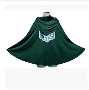 CHANGL Cosfans Attack on Titan Cosplay Shingeki No Kyojin Mikasa Ackerman Costume Cosplay Scialle Cintura Abito Pantaloncini in Pelle Set Completi