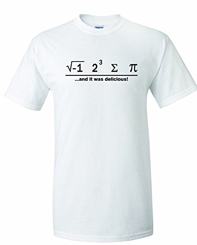 Men's I Ate Some Pie And It Was Delicious Math Ate Sum Pi T-Shirt Medium