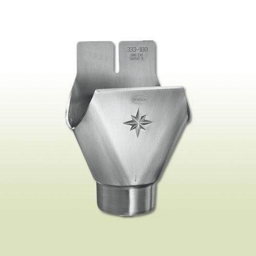 Titanzink Einhangstutzen oval RG 333 für Fallrohr DN 100