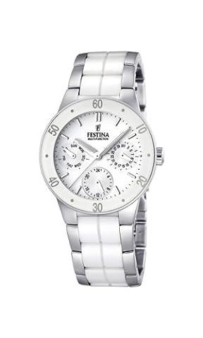 Festina Ladies Multi-Function Watch F16530/1 With White Ceramic Inlay