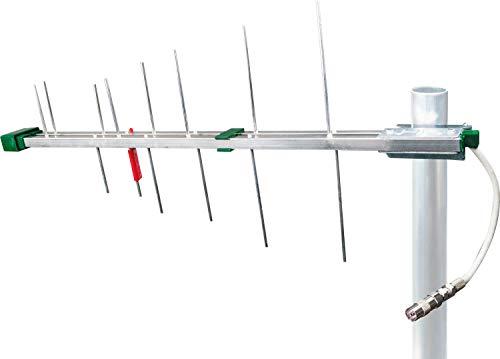 SCHWAIGER -20334- DVBT-2 Antenne außen mit Verstärker / Passive Außenantenne für max. Signalstärke / Integ. LTE-Sperrfilter / für DVB-T Empfang / Anschluss an DVBT-2 Receiver und Fernserher