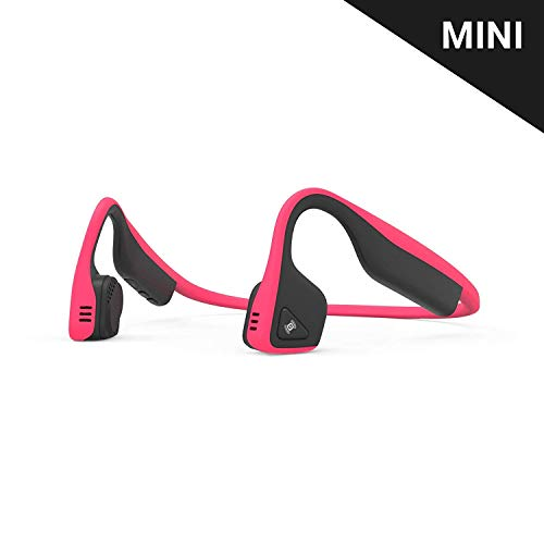Aftershokz Trekz Titanium Mini Auriculares Conduccion Osea Bluethooth Inalámbricos Deportivos para Maratón Ciclismo con Microfono, Rosa