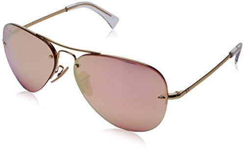 RAYBAN Herren Sonnenbrille RB3449, Gold (Gold/Pink Flash Copper), 59