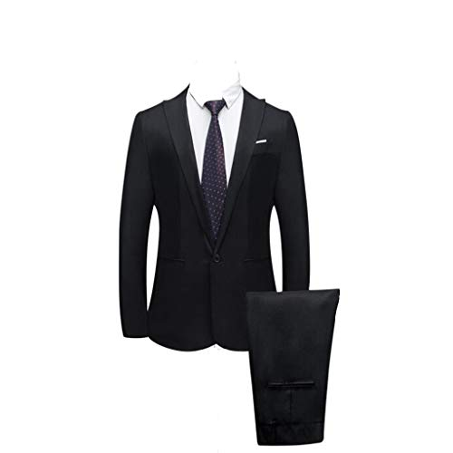 Business Herrn Kostüm - bestshope Herren Anzug Suit, Männer 2-Teilig Blazer & Anzughose Slim Fit Schnitt Sakko Mantel mit Knöpfe Top Kostüm Outwear Smoking Jacke Hose Sets Für Business Traditionelle Hochzeit Cocktail Party