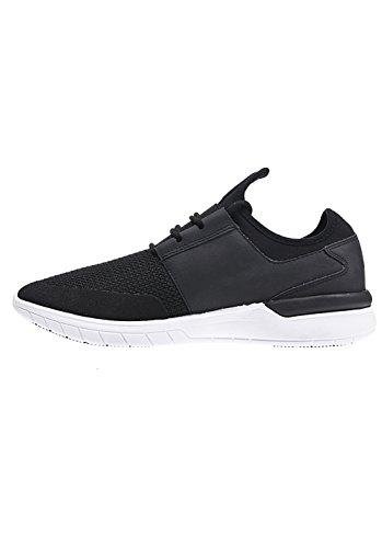 Supra Flow Run, chaussons d'intérieur homme Black-Black-White