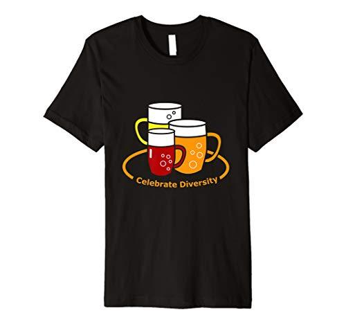 Feiern Sie Vielfalt T-Shirt Bierliebhaber Brauerei Handwerk