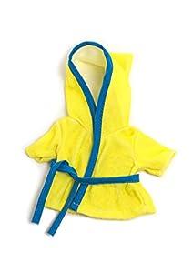 Miniland- Albornoz 21CM Vestido para muñecos de 21 cm, Color Amarillo, 31675