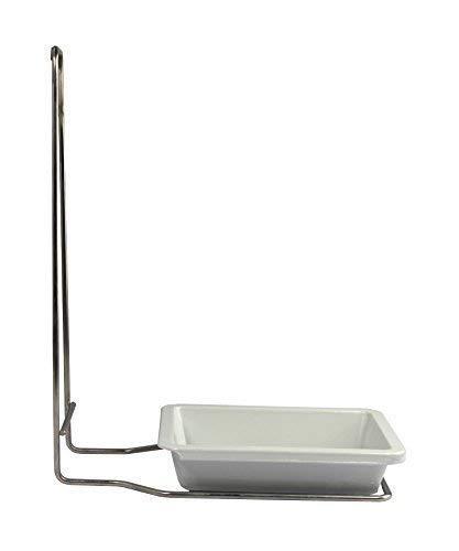 Tropfschale + Edelstahlgehäuse für 500 ml Wandspender Aluminium gebürstet von Medi-Inn