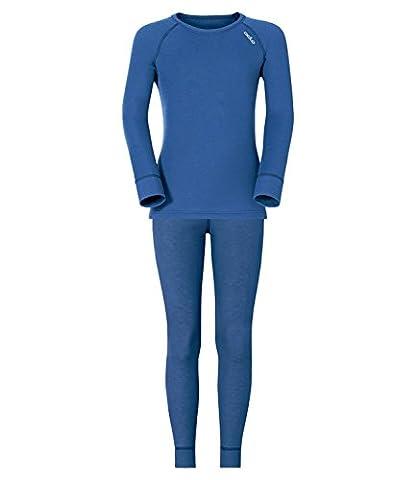 Odlo Jungen Skiunterwäsche Set Thermounterwäsche Originals warm, Farbe:Blau;Größe:140;Artikel:-22800