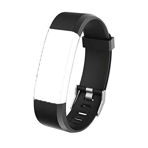 ID 115 Plus HR Armband Ersatz Zubehör TPU Weiches Verstellbares Sport Armband Kompatibel mit Armbanduhr ID115 Plus und ID115plushr Schrittzähler Pulsmesser, Schwarz -