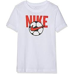 Nike B NSW tee Soccer Ball Camiseta, Niños, Blanco (White), M