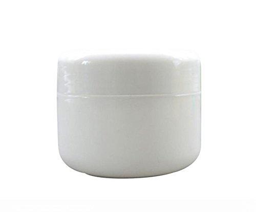 6PCS 100ml 3.5oz vide réutilisable récipient cosmétique en plastique Voyage Bouteille Jar pot cas avec doublures et bouchon à vis pour Lotion crème maquillage stockage des échantillons (blanc)