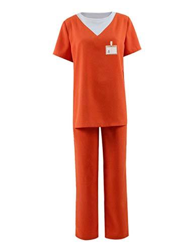 Zhangjianwangluokeji New Black Unisex Gefängnis Kostüm Orange Overall Piper Chapman Kostüm Halloween Cosplay (D-XS, Farbe 1) (Piper Chapman Kostüm)