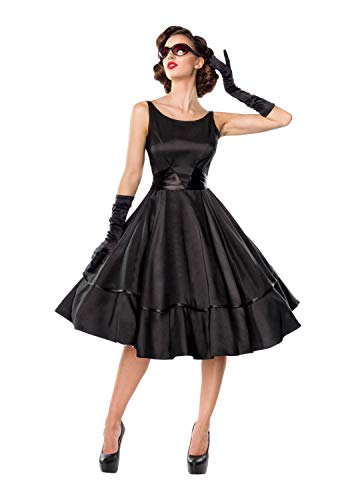 Belsira Damen Vintage-Swing-Satinkleid L