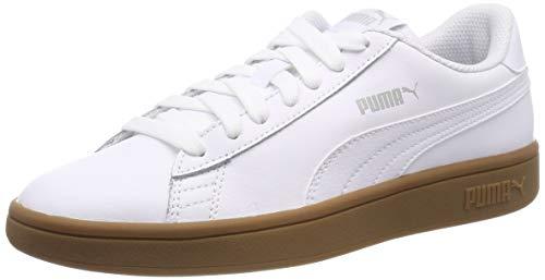 Puma Puma Smash v2 L Scarpe da Ginnastica Basse Unisex - Adulto, Bianco (Puma White-Puma Black), 37 EU (4 UK)