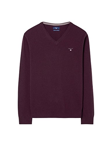 GANT Herren Pullover Super Fine Lambswool V-neck Purple