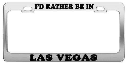 I 'd Rather Be in Las Vegas License Plate Tag Halterung Auto Zubehör Geschenk