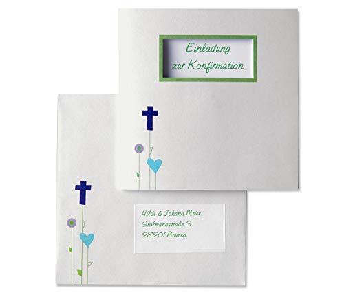 MyPaperSet Einladungskarten-Set \'Gottes Wiese\' - 15 bedruckbare Karten zur Kommunion Konfirmation Taufe