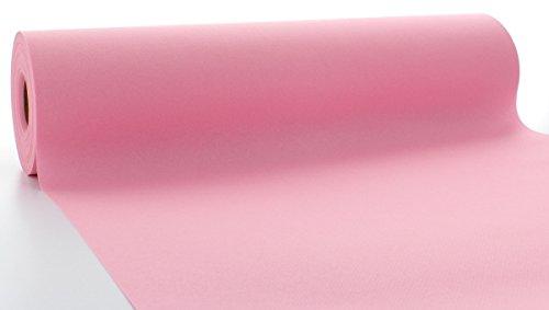 s® Airlaid Tischläufer 40 cm x 24 m / Tischdecken-Rolle stoffähnlich / praktische Einmal-Tischdecke für Hochzeit oder Partys / Rosa (Rosa Tisch)