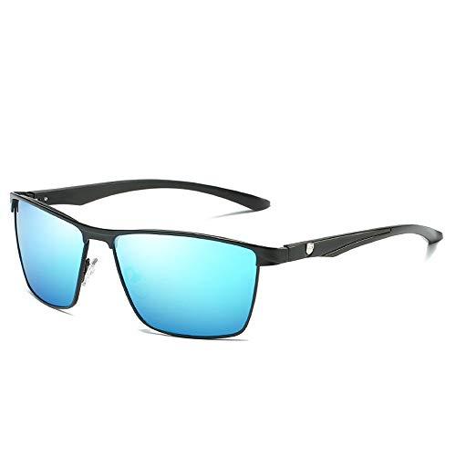 Easy Go Shopping Teardrop Herren Sonnenbrille Klassisches Design UV Cut Brillenetui Polarisierte Sonnenbrille Nachtsichtbrille Sonnenbrillen und Flacher Spiegel (Color : Blau, Size : Kostenlos)