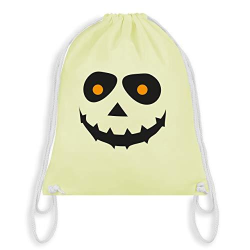 Halloween - Gruseliges Gesicht Fasching - Unisize - Pastell Gelb - WM110 - Turnbeutel & Gym Bag