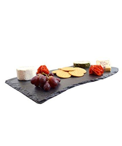 Slate piatti individuali di 50 x 30 cm con fontana a forma di onda, il nero