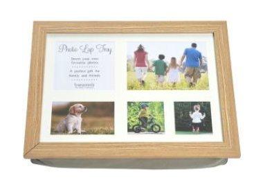 Personnalisez votre propre plateau photo avec des images/photos (en bois coussin à personnaliser)