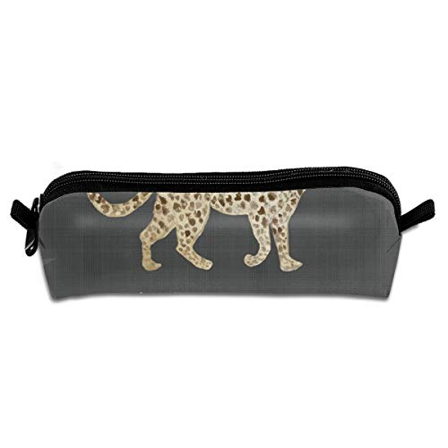 Leopard Parade Brown Black Pencil Pouch Bag Stationery Pen Case Makeup Box with Zipper Closure 21 X 5.5 X 5 cm - Parade Leopard