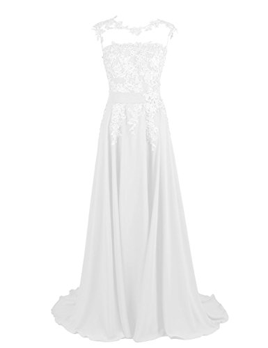 Fanciest Women's Appliques Lang Ballkleid Abendkleider Homecoming Kleid Brautjungfernkleider Minze Ivory