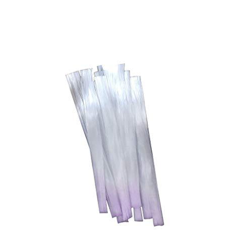 JXQ-N Falsche Nägel Nagelspitzen Natürliche 10g Glasfaser zu Acryl Kunst Französisch Tipps Klar Scharf Ende Volle Deckung Natur mit Box für Frauen Mädchen