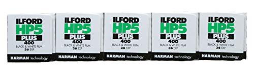 Ilford HP5 Plus Schwarzweißfilm, 35mm, 36 Belichtungen pro Rolle, 5Rollen