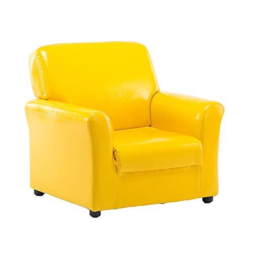 WYYY Bürostuhl Kindersofa Kinder Baby Mini-Sessel Stuhl PU-Sitz Einzelsofa Hocker Lesen Durable stark (Farbe : Gelb)