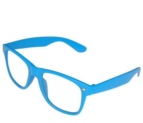 4sold Blue Sonnenbrille Nerd Brille klar