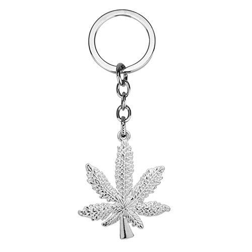 Kanggest Schlüsselanhänger Unisex Cannabis Leaf Schlüsselanhänger Hanf Unkraut Keychain Rucksack Dekoration Keychain Schmuck (Schlüsselanhänger Unkraut)