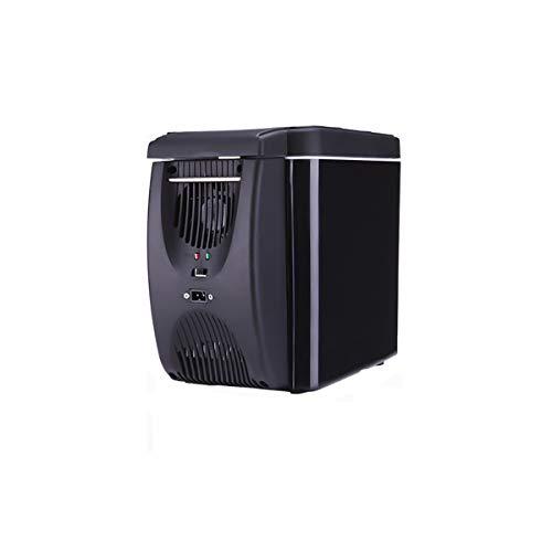 PJDTQ Réfrigérateur de Voiture 12 V 6 L Mini réfrigérateur électrique Camping Portable Chauffe-glacière de Voyage Noir