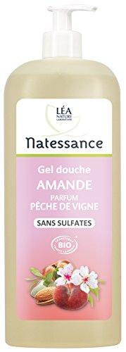 Natessance Hygiène Douche Crème Amande Parfum Pêche de Vigne sans Sulfates 1 L