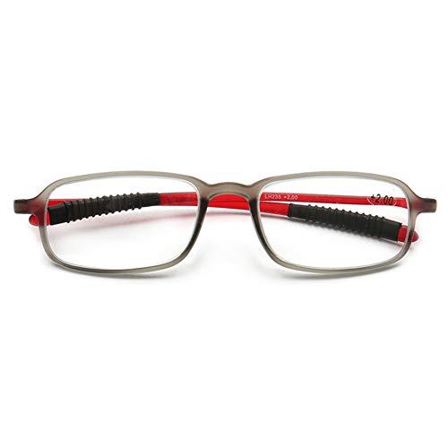 VEVESMUNDO Lesebrillen Herren Damen Retro Vintage Klar TR90 Kunststoff Langer bügel Modern Stabil Lesehilfe Sehhilfe Brillen 1.0 1.25 1.5 1.75 2.0 2.25 2.5 2.75 3.0 3.25 3.5
