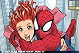 Spiderman Mary Jane Watson Marvel Comics Mouse Pad, Mousepad (25,9 x 21,1 x 0,3 cm)
