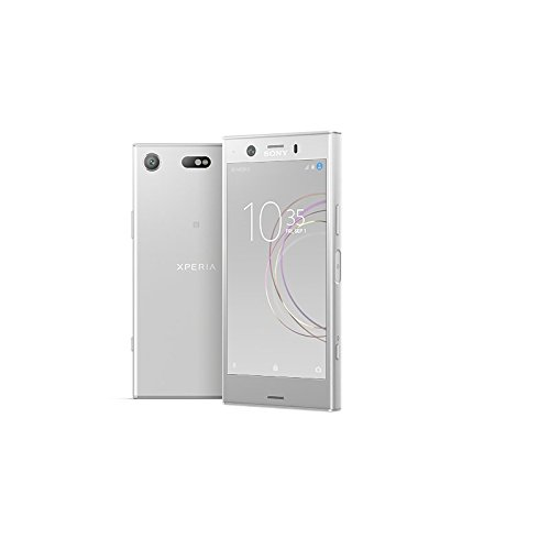 Sony Xperia XZ1 Compact Smartphone (11,65 cm (4,6 Zoll) Triluminos Display 19MP Kamera, 32GB Speicher, Android) silber [Spanische Version]