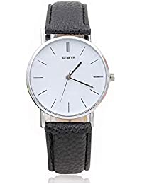 515f3a5f4a9f Reloj a Cuarzo analógico Reloj décontractée Reloj de Pulsera Reloj de Moda  Vogue Relojes para Hombre Mujer Ultra Fino…