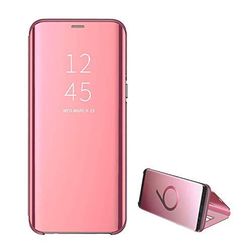 Handyhülle für Galaxy S7,für Samsung Galaxy S7edge Handy Schutzhüllen Spiegel Clear View Standfunktion Cover 360 Grad Stoßdämpfung Hülle Kratzfeste Flip Slim Blau