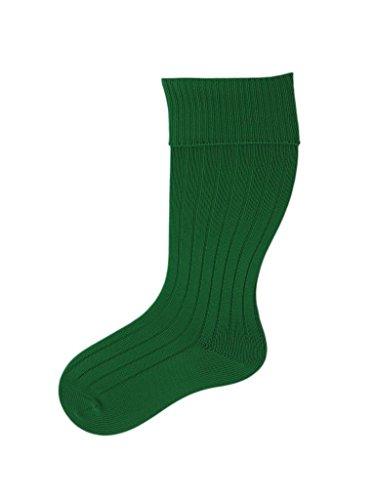 UK MADE Fußball Rugby Hockey PE Socken–Jungen Mädchen Männer Frauen Gr. Medium, smaragdgrün